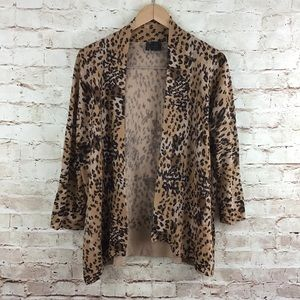 Etoile Womens Brown Open Front Cardigan Sweater XL